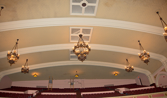 Topeka High School Auditorium Construction Renovation completed by Kendall Construction